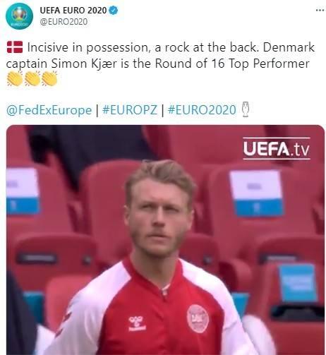 克亚尔当选欧洲杯1/8决赛最佳球员