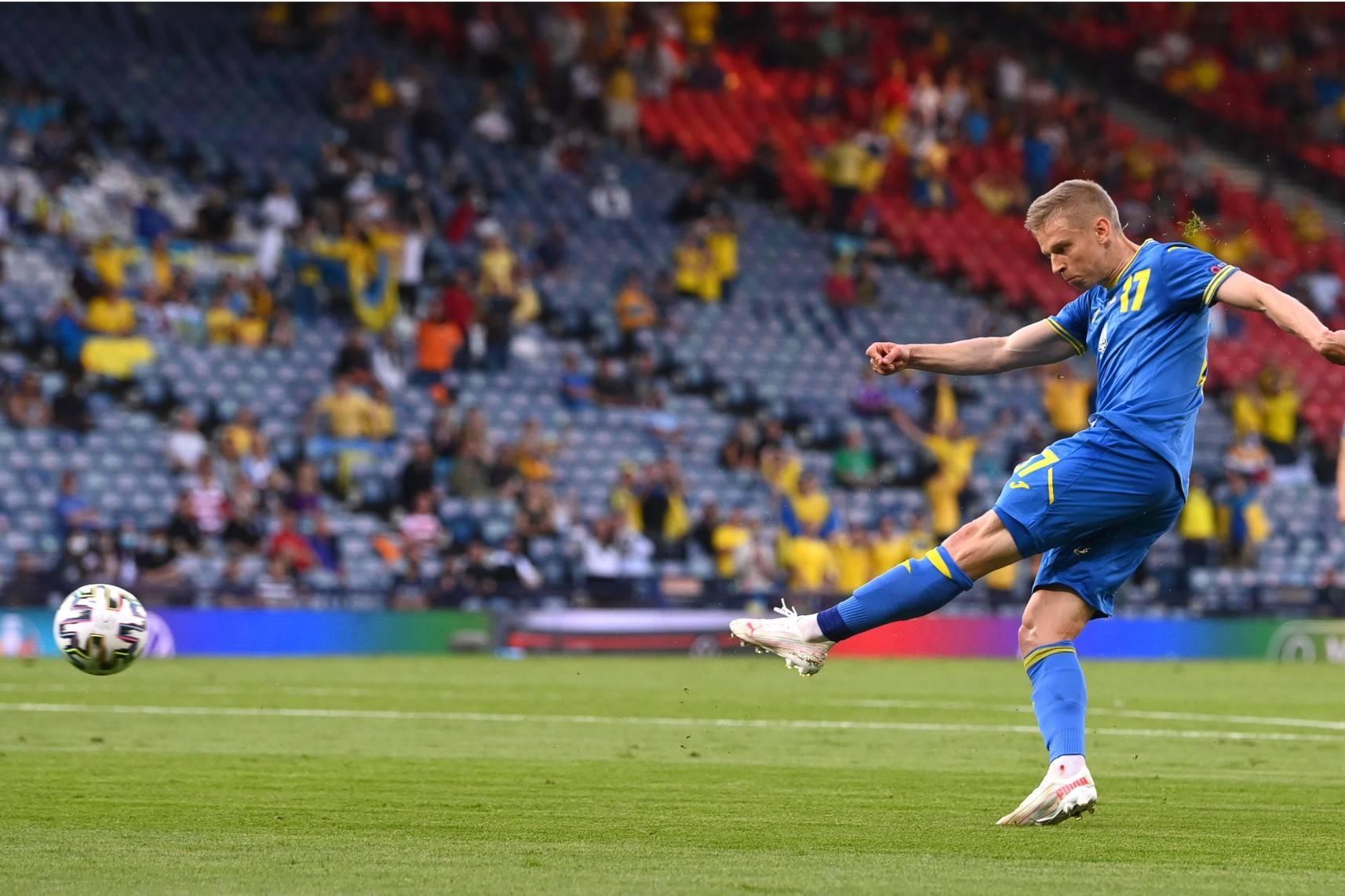 半场战报津琴科爆射+福斯贝里穿云箭,瑞典1-1乌克兰