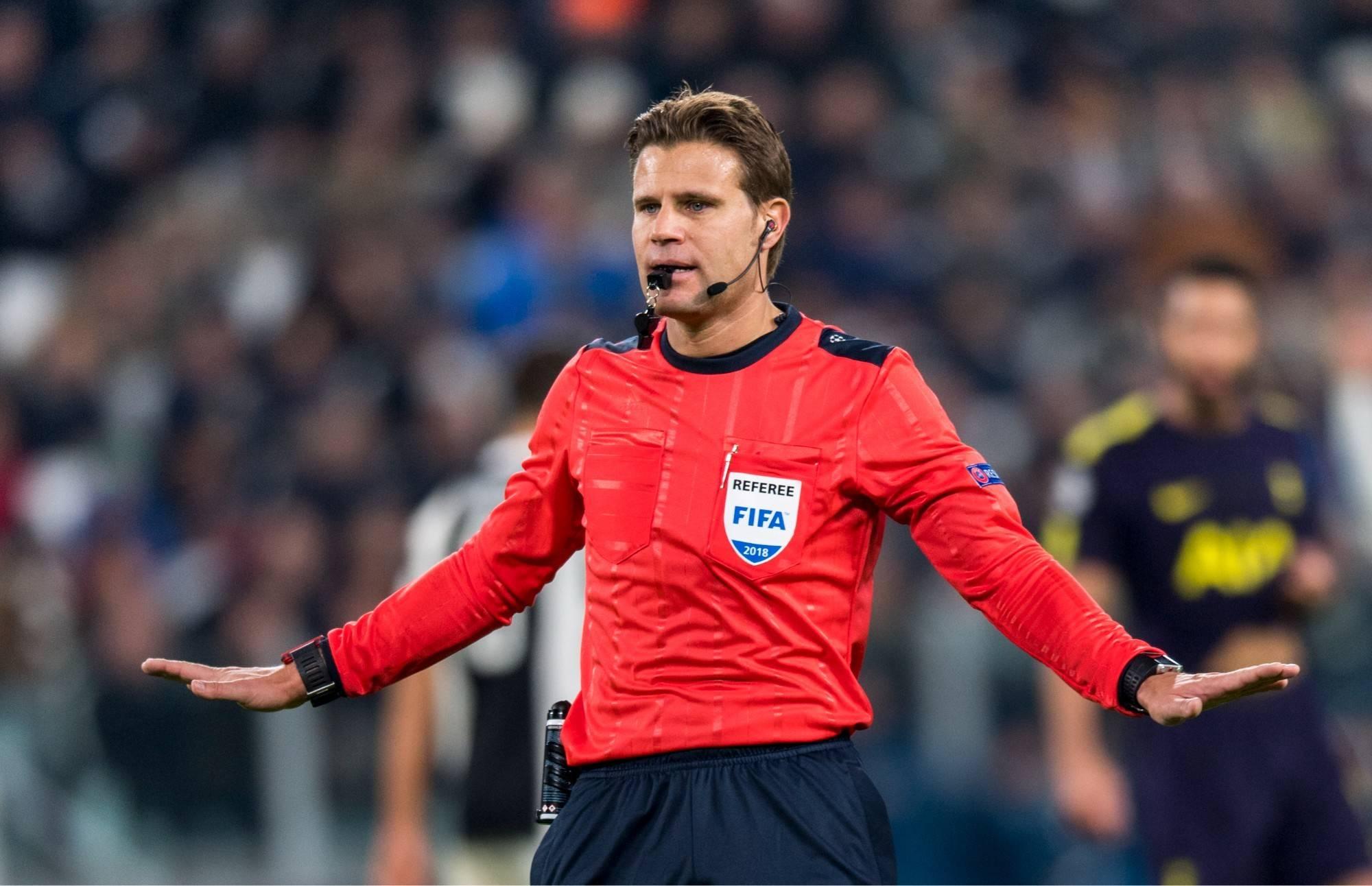 欧足联德国籍主裁判布吕希将执法乌克兰vs英格兰