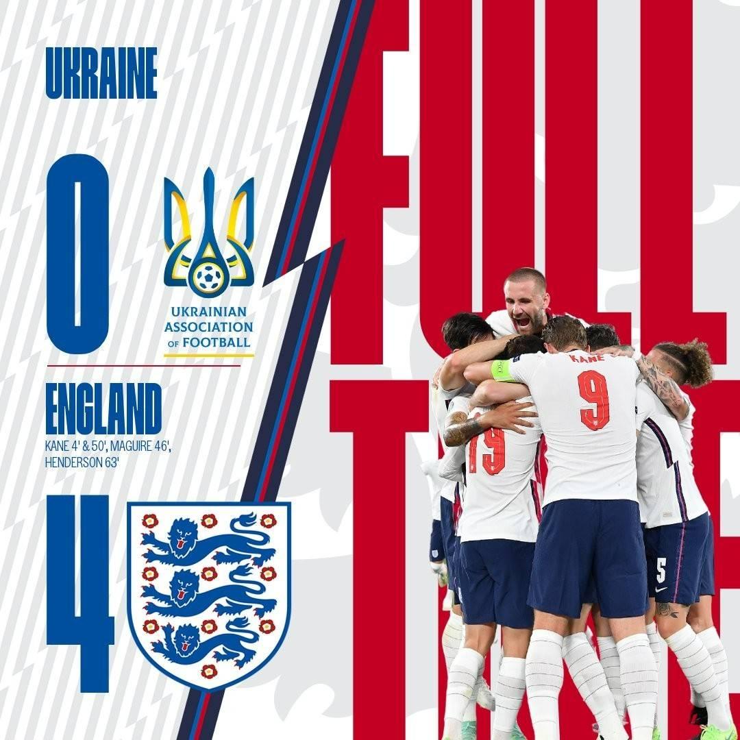 欧洲杯战报凯恩梅开二度,英格兰4-0大胜乌克兰轻松晋级