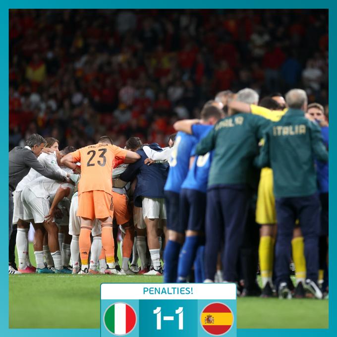 欧洲杯战报莫拉塔、奥尔莫飞点,意大利率先晋级决赛