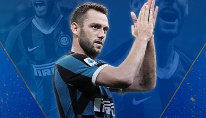 国米后卫德弗赖当选意甲2019/20赛季最佳后卫