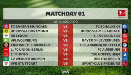 德甲官方公布新赛季赛程:9月18日开战,揭幕战拜仁vs沙尔克04