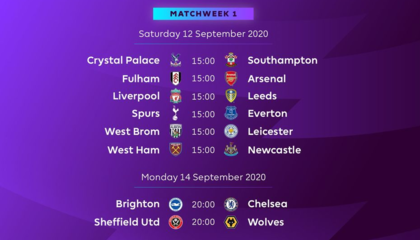 官方:英超新赛季9月12日开赛,揭幕战利物浦对阵利兹联