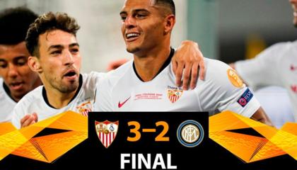 欧联战报:塞维利亚3-2国际米兰,6次杀入欧联决赛6次捧杯不愧欧联之王