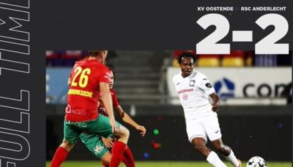 比甲战报:安德莱赫特2-2客平奥斯坦德,联赛四轮不败