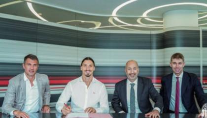 官方:AC米兰与伊布续约至2021年,伊布将身披11号球衣