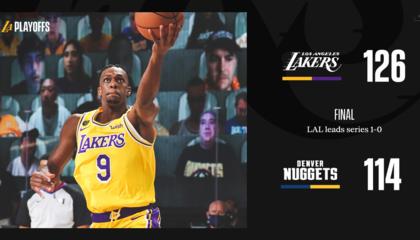 NBA战报:浓眉哥37+10洛杉矶湖人轻取丹佛掘金先拔头筹