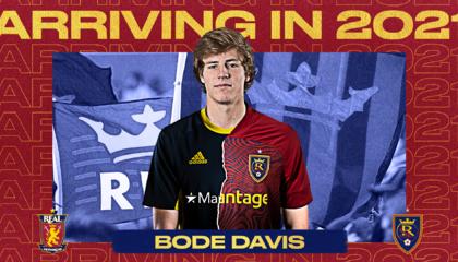 皇家盐湖城签约小将鲍德·戴维斯,成队内第12名青训出品