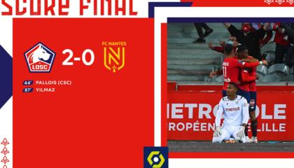 法甲战报:伊尔马兹点球锁定胜局,里尔2-0南特尽显克星本色