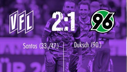 德乙战报:桑托斯梅开二度,奥斯纳布鲁克2-1汉诺威96赢新赛季首胜