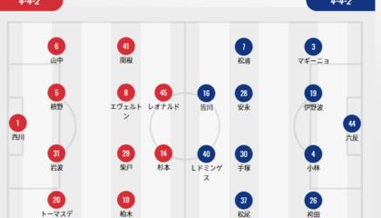 浦和红钻VS横滨FC首发:红钻全主力,横滨右后卫马基尼奥复出