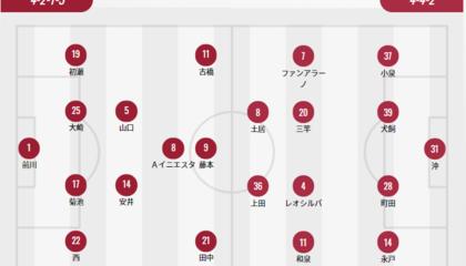 神户胜利船VS鹿岛鹿角首发:神户部分轮换,鹿岛头号射手替补