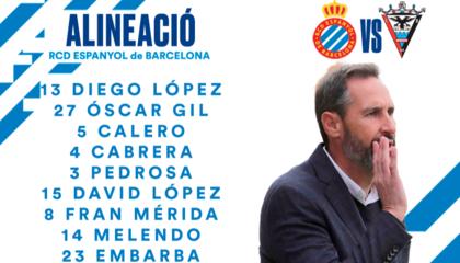西班牙人VS米兰德斯首发:武磊缺席,德托马斯领衔;米兰德斯4处人员轮换