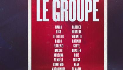 巴黎公布客战里尔大名单:姆巴佩领衔,内马尔缺席