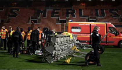 悲剧!洛里昂一工作人员被球场灯光设备砸中,不幸身亡