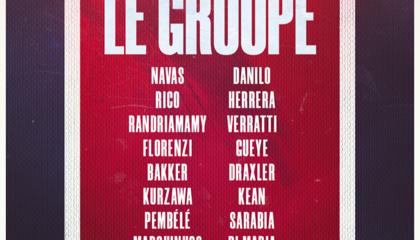 巴黎公布大名单:内马尔回归,达巴等三人因感染新冠缺席