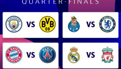 欧冠8强抽签对阵出炉:皇马vs利物浦,巴黎vs拜仁
