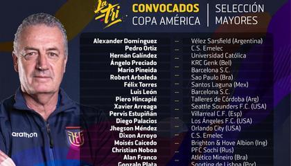 美洲杯厄瓜多尔大名单:埃斯图皮尼安、坎帕尼亚领衔