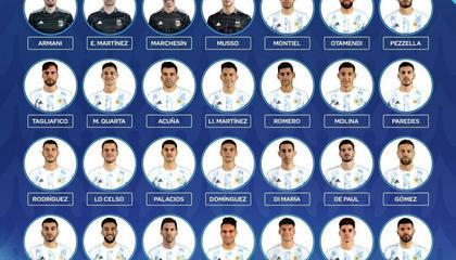 阿根廷美洲杯最终名单:梅西领衔,阿尔瓦雷斯顶替阿拉里奥入选