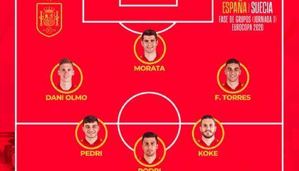 西班牙vs瑞典首发:莫拉塔领衔,中超后卫出战