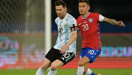美洲杯战报:梅西任意球破门,阿根廷1-1战平智利