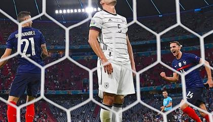 新历史:德国不敌法国是队史首次在欧洲杯首轮输球