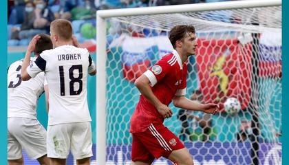 官方:米兰丘克当选俄罗斯vs芬兰全场最佳球员