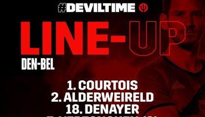 比利时vs丹麦首发:卢卡库、卡拉斯科领衔,德布劳内、阿扎尔替补