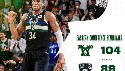 NBA季后赛战报:抢七!雄鹿104-89大胜篮网 杜兰特32+11 字母哥30+17 米德尔顿38+10