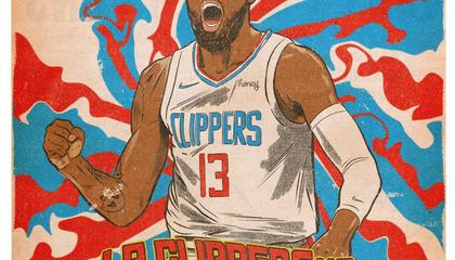 NBA战报:乔治28+9+7准三双率队逆转爵士杀进西决