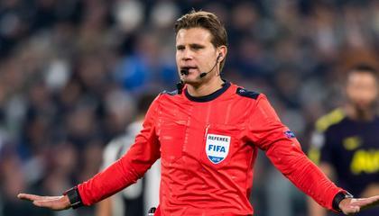 执法芬兰VS比利时的主裁,曾在欧冠赛场红牌罚下C罗