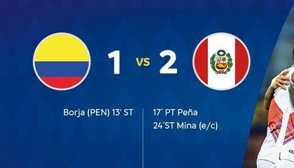 美洲杯战报:米纳乌龙送礼,秘鲁2-1哥伦比亚