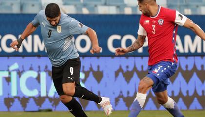 美洲杯战报:苏亚雷斯破门,乌拉圭1-1战平智利