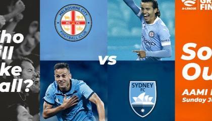 墨尔本城VS悉尼FC首发:科拉+蒂利奥PK勒方德雷+波波