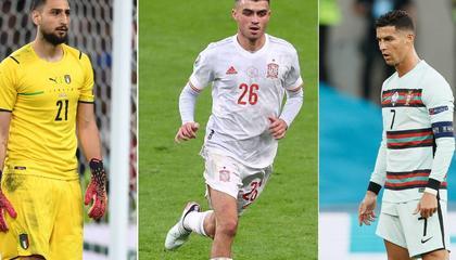 踢球者评欧洲杯最佳阵容:C罗、多纳鲁马领衔,小基耶萨、若日尼奥落选