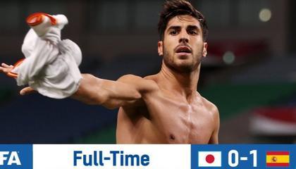 奥运男足:阿森西奥建功,西班牙与巴西会师决赛
