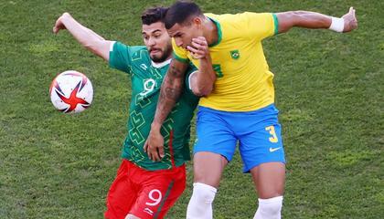 奥运男足战报:墨西哥U23连续失点,巴西U23点球4-1晋级决赛