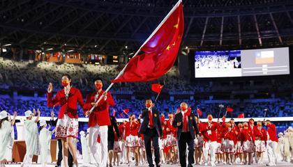 东京奥运会中国代表团共获38金32银18铜,位列奖牌榜第2位