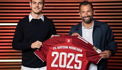 官方:拜仁与21岁后卫斯坦尼西奇续约至2025年